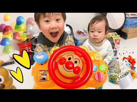 アンパンマンおでかけメロディハンドル★1歳のお誕生日にお兄ちゃんと遊んだよ♪