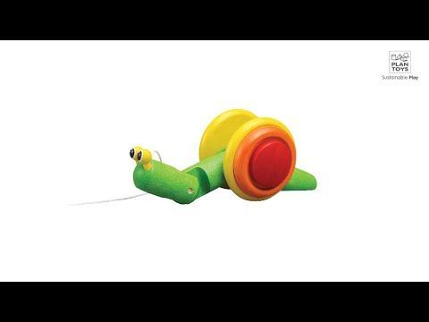 PlanToys   Pull-Along Snail